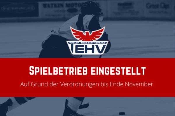 Vorübergehender Lockdown im Tiroler Eishockey